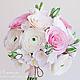 Свадебные цветы ручной работы. Ярмарка Мастеров - ручная работа. Купить Букет невесты в розово-белых оттенках из полимерной глины. Handmade.