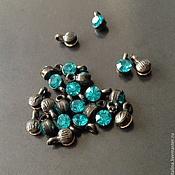 Материалы для творчества handmade. Livemaster - original item Small charm of art. 7-10 with blue crystal and coated in b. Handmade.