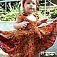 Clothes for Girls handmade. Livemaster - handmade. Buy Children's sundress 'Alice'.Wet felting, natural silk