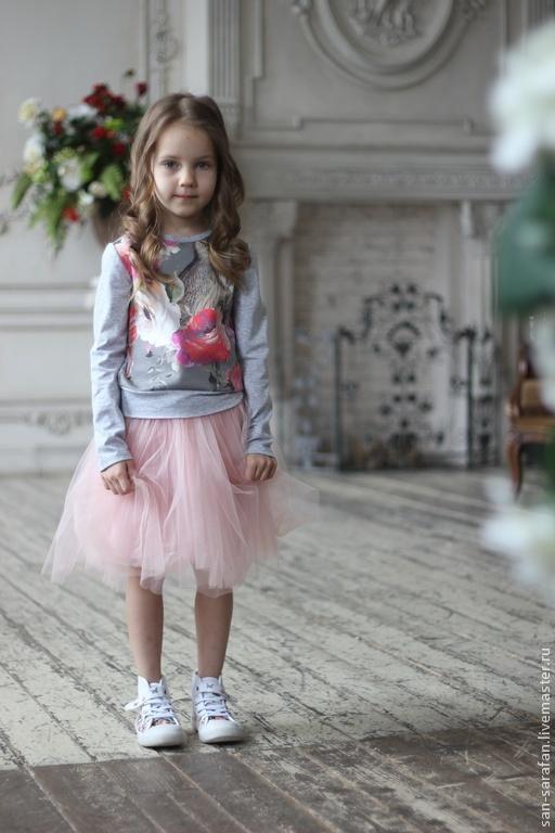 Одежда для девочек, ручной работы. Ярмарка Мастеров - ручная работа. Купить Свитшот детский. Handmade. Свитшот, детская, кофта детская