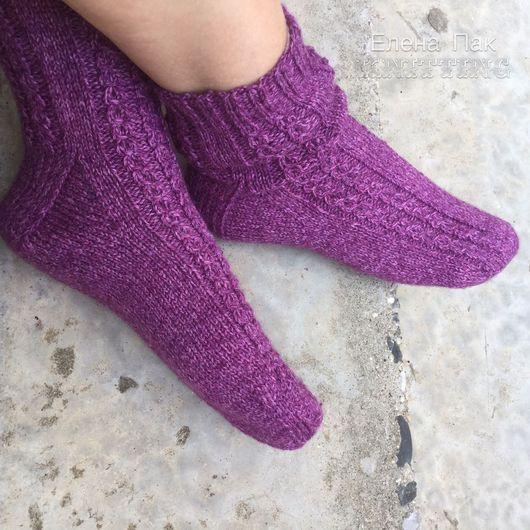 """Носки, Чулки ручной работы. Ярмарка Мастеров - ручная работа. Купить Носки шерстяные """"Жемчужина"""". Handmade. Носки, носки теплые"""