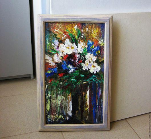 Картины цветов ручной работы. Ярмарка Мастеров - ручная работа. Купить Нежность и страсть - картина маслом. Handmade. Комбинированный, букет