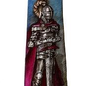 Аксессуары handmade. Livemaster - original item Tie men`s batik Knight. Handmade.