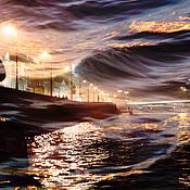 Картины и панно handmade. Livemaster - original item Photo painting cityscape for interior, Night Petersburg. Handmade.