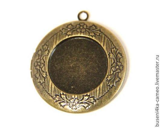 Для украшений ручной работы. Ярмарка Мастеров - ручная работа. Купить Оправа Медальон круглый 20мм, античная бронза (1шт). Handmade.