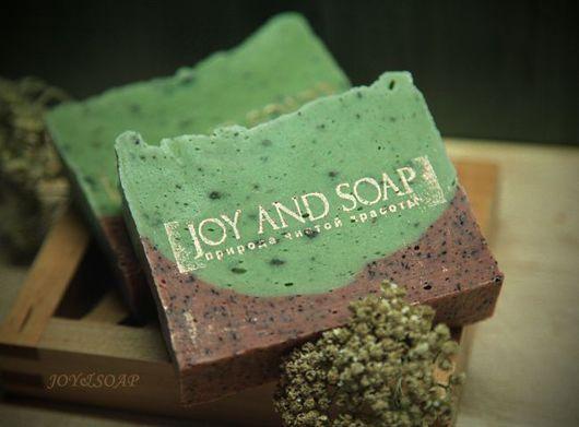 Мыло Joysoap ОЛИВКОВАЯ РОЩА. Натуральное оливковое мыло-скраб с зеленой глиной
