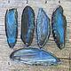 Для украшений ручной работы. Заказать Синие крупные плоские бусины тонированного агата. Королёк 2 (koroleck2). Ярмарка Мастеров.