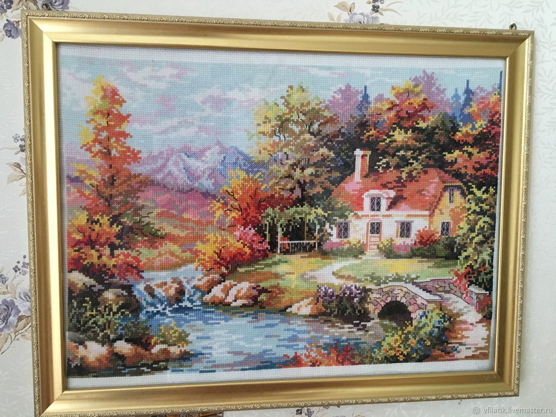 Вышитая картина Наш уголок, Картины, Москва,  Фото №1