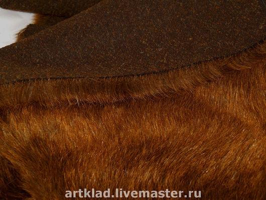 Куклы и игрушки ручной работы. Ярмарка Мастеров - ручная работа. Купить Мохер плюш коричневый с рыжим 30 мм (Германия, Schulte). Handmade.
