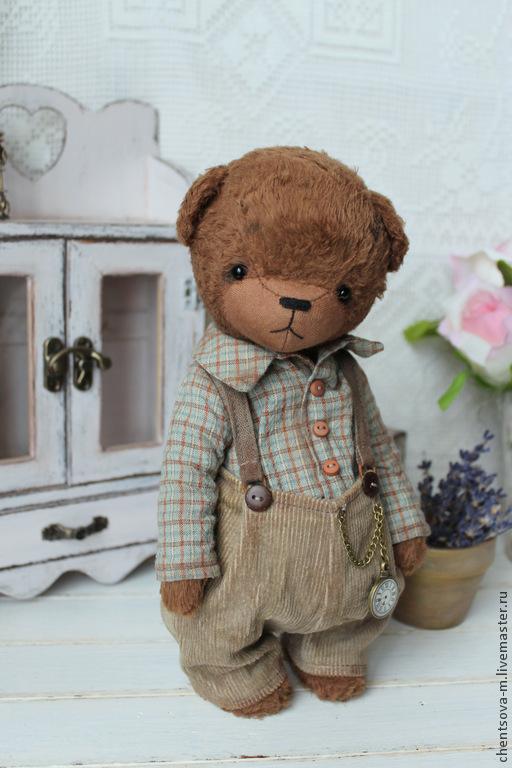 Мишки Тедди ручной работы. Ярмарка Мастеров - ручная работа. Купить Сашка. Handmade. Мишка, коллекционные медведи, тедди мишка