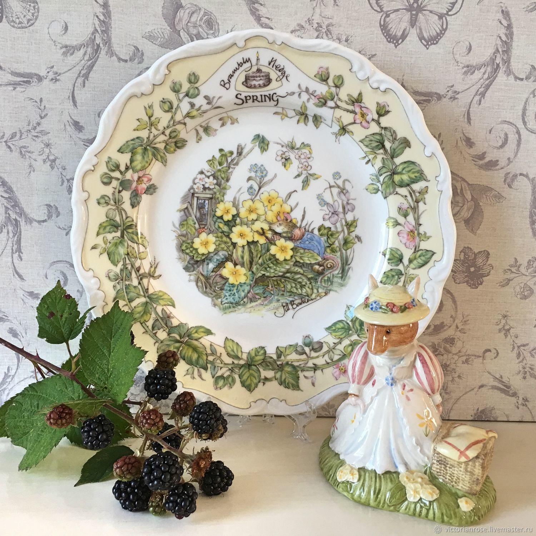 Винтаж: Тарелка Весна Ежевичная Поляна Brambly Hedge Royal Doulton, Винтажные сувениры, Лондон, Фото №1