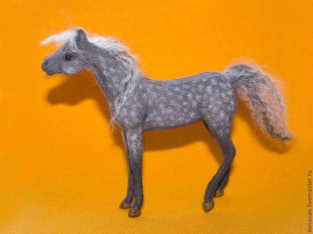 Арабская лошадка Юна  (сухое валяние), Войлочная игрушка, Владивосток,  Фото №1