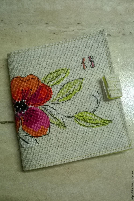 Вышивка книжка-игольница