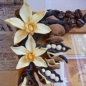 Сувениры и подарки handmade. Livemaster - original item photo frame with flowers and miniatures of plastics