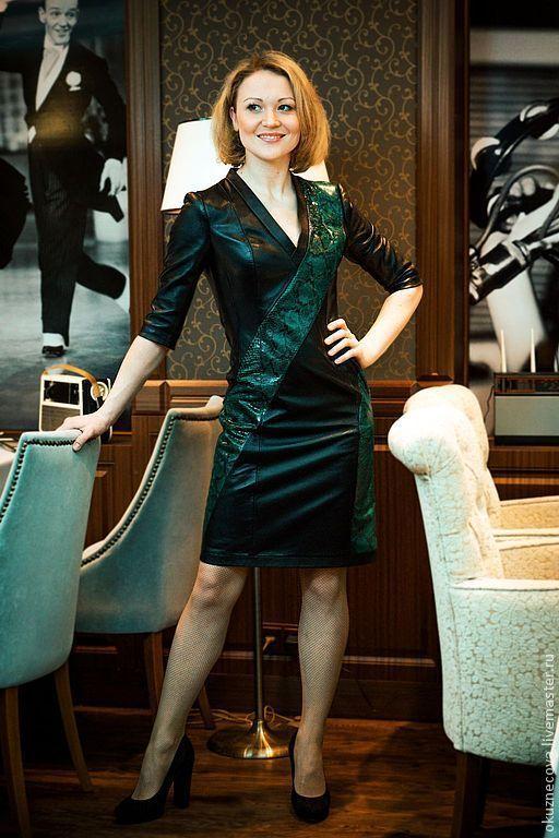 Платья ручной работы. Ярмарка Мастеров - ручная работа. Купить Платье из кожи Labard. Handmade. Платье, платье кожаное платье