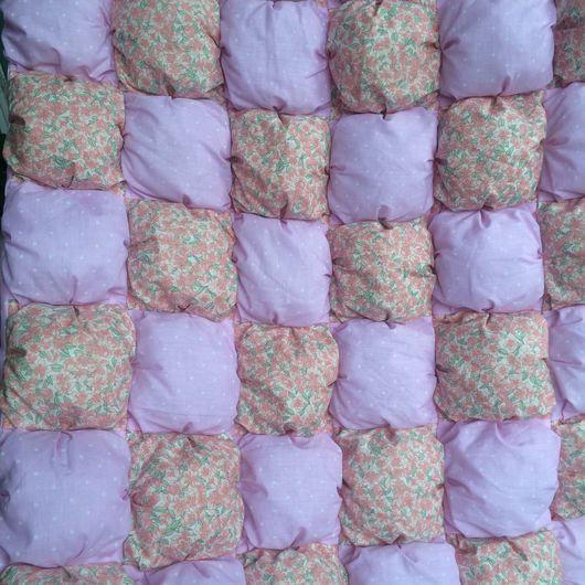 Пледы и одеяла ручной работы. Ярмарка Мастеров - ручная работа. Купить Лоскутное одеяло. Handmade. Хлопок, одеяло для новорожденного