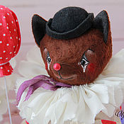 Куклы и игрушки ручной работы. Ярмарка Мастеров - ручная работа клоун Жан-Батист Ориоль. Handmade.