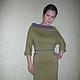 """Платья ручной работы. Платье """" Яблоневый цвет"""". Кофейное зёрнышко. Интернет-магазин Ярмарка Мастеров. Однотонный, платье с карманами"""