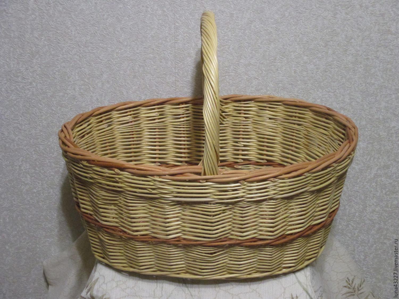 Handmade Pack Basket : The mushroom basket woven from vines on