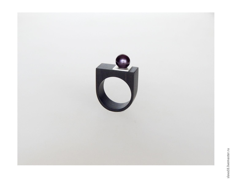 ring with black pearl, Rings, Vladimir,  Фото №1