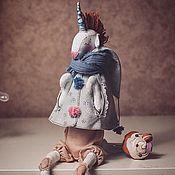 Куклы и игрушки ручной работы. Ярмарка Мастеров - ручная работа Текстильная игрушка Единорог. Handmade.