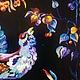 Доска для кухни `В глухарином лесу`. Уютная теплая роспись. Подарит Вам воспоминания о прогулках по осенним тропинкам. Прекрасный подарок для хозяйки дома.