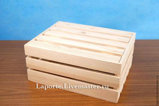Реечный ящик с крышкой (внутренней)