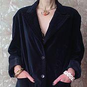 """Одежда ручной работы. Ярмарка Мастеров - ручная работа Жакет бархатный """"Королевский синий"""". Handmade."""