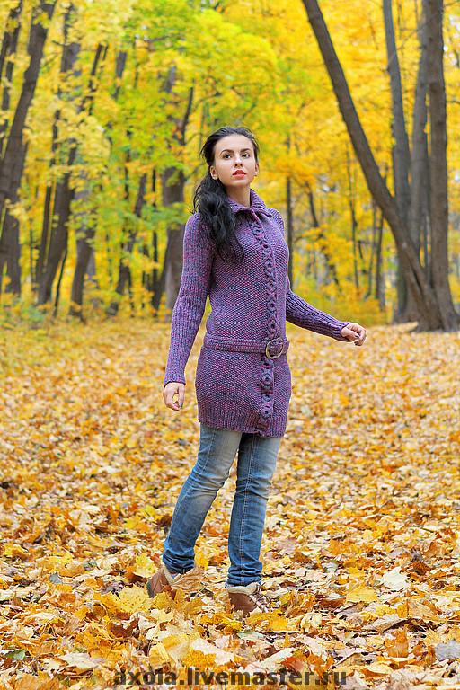 """Верхняя одежда ручной работы. Ярмарка Мастеров - ручная работа. Купить Кардиган """" Осенняя симфония"""". Handmade. Пальто женское"""
