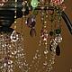 Освещение ручной работы. винтажная люстра из цветного стекла Дождь в летнем саду. Mantipa 123. Ярмарка Мастеров. Дождь, зеленый