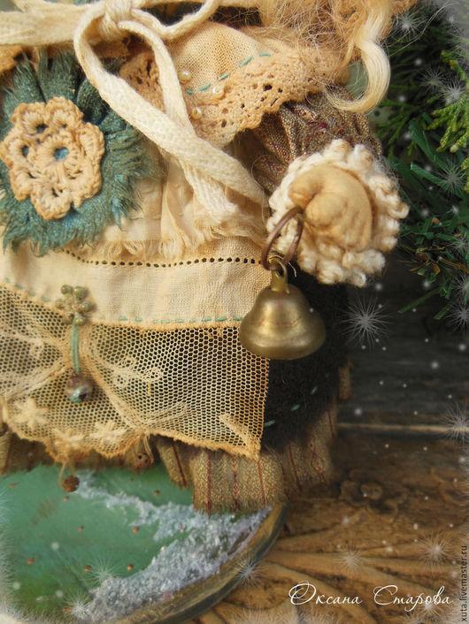 Коллекционные куклы ручной работы. Ярмарка Мастеров - ручная работа. Купить Рождественские яблоки (по мотивам). Handmade. Коричневый, текстиль