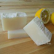 """Косметика ручной работы. Ярмарка Мастеров - ручная работа Хозяйственное мыло с нуля """"Лимонное"""" натуральное для стирки уборки эко. Handmade."""