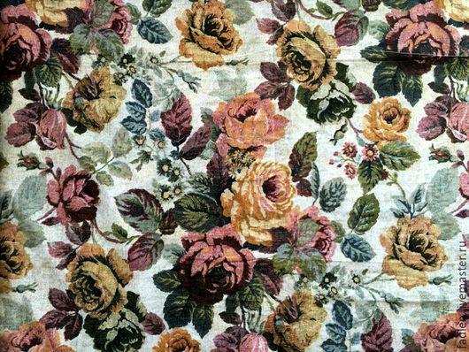 Ткань для домашнего текстиля: шторы, занавески, скатерти, покрывала, наволочки, простыни, пододеяльники...Ткань `Розы гобелен`, Шир. 2,2м