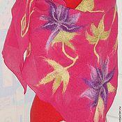 Аксессуары handmade. Livemaster - original item Shawl wool Fuchsia. Handmade.
