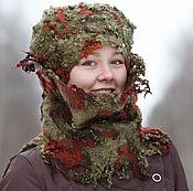 Аксессуары ручной работы. Ярмарка Мастеров - ручная работа Комплект шапка и шарф Креативный далматинец. Handmade.