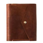 Канцелярские товары handmade. Livemaster - original item Leather notebook with pocket hand sewn seam. Handmade.