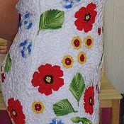 """Одежда ручной работы. Ярмарка Мастеров - ручная работа Платье крючком """"Маки"""". Handmade."""