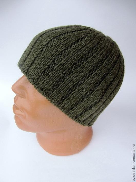 """Шапки ручной работы. Ярмарка Мастеров - ручная работа. Купить шапка """"active"""". Handmade. Тёмно-зелёный, шапка мужская"""