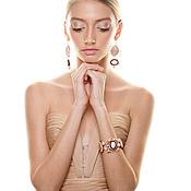 """Украшения ручной работы. Ярмарка Мастеров - ручная работа Комплект браслет и серьги """"Pearl souffle"""". Handmade."""