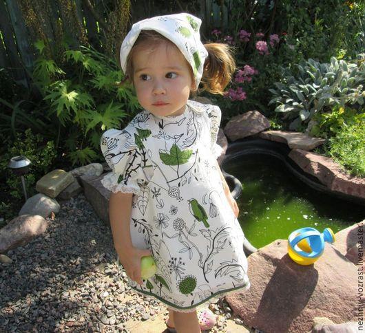 Одежда для девочек, ручной работы. Ярмарка Мастеров - ручная работа. Купить Фартук,панамка,штанишки.. Handmade. Рисунок, ребенку, девочкам