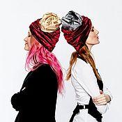 Аксессуары handmade. Livemaster - original item Turban Pipe hat hijab different colors. Handmade.