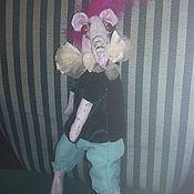 """Игрушки ручной работы. Ярмарка Мастеров - ручная работа Текстильная крыса """"Лайза"""". Handmade."""