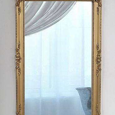 Для дома и интерьера ручной работы. Ярмарка Мастеров - ручная работа Лепная рама с зеркалом под бронзу. Handmade.