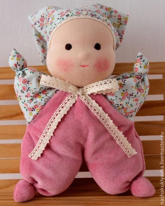 Вальдорфская игрушка ручной работы. Ярмарка Мастеров - ручная работа. Купить Вальдорфская кукла Малышка Динь-Динь. Handmade. Розовый