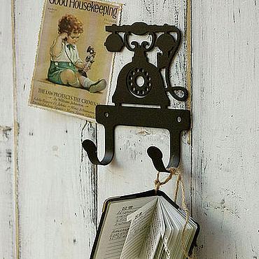 Для дома и интерьера ручной работы. Ярмарка Мастеров - ручная работа Крючки металлические Телефон. Handmade.