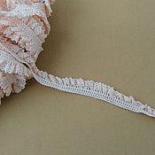 Материалы для творчества ручной работы. Ярмарка Мастеров - ручная работа К-480 Кружево хлопковое, нежно-розовое, ширина 1,6см. Handmade.