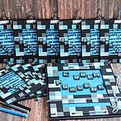 """Открытки ручной работы. Ярмарка Мастеров - ручная работа Приглашения """"Minecraft"""". Handmade."""