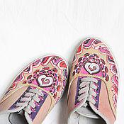 """Обувь ручной работы. Ярмарка Мастеров - ручная работа Кеды """"Надел, и на ГОА!"""" 38 (37,5-38) размер.. Handmade."""
