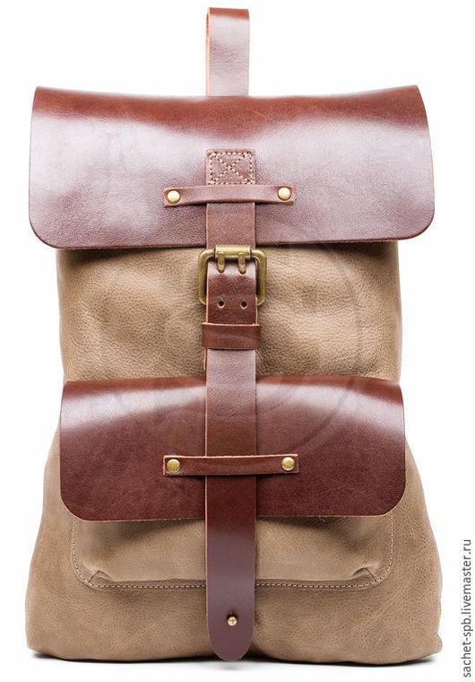 Рюкзаки ручной работы. Ярмарка Мастеров - ручная работа. Купить Рюкзак из кожи Gray коричневый. Handmade. Коричневый, рюкзак из кожи