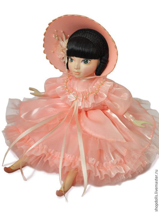 Коллекционные куклы ручной работы. Ярмарка Мастеров - ручная работа. Купить Кукла барышня в персиковом. Handmade. Бледно-розовый